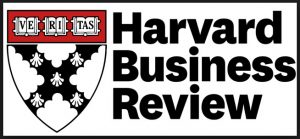 The Harvard crest next to the Harvard Business Review logo. A story about how silence is good when living a fast paced life.