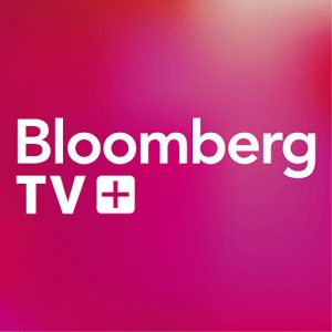 The logo for Bloomberg TV, a tv channel focusing on finance in the United States and globally. A great source for financial data and charts. There are also interviews of titans of industry. Leans to the left, politically