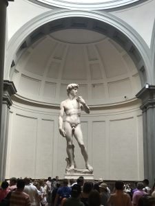 Michelangelo's David in Florence Italy