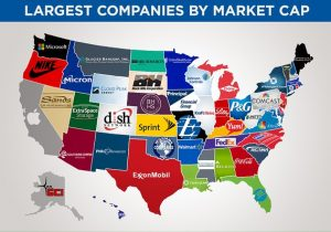 Biggest brands in each state by market cap