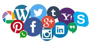 An image of nearly every type of social media which is a representation of the serviec of social media management offered by Felice Marketing.