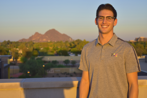 Andy Felice in front of Camelback Mountain